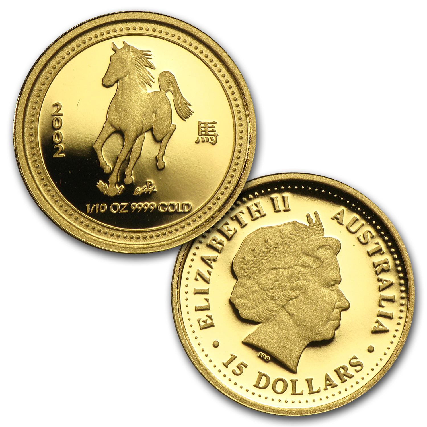 12-Coin 1/10 oz Proof Gold Lunar Set (Series I - 1996-2007)